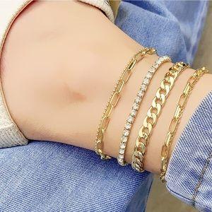 Boho Ankle Bracelets Gold NEW